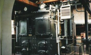 One of the two large boilers